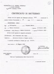 Certificado De Batismo De Carlo